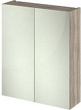 Vasari Apex Driftwood Double Door Mirror Cabinet -