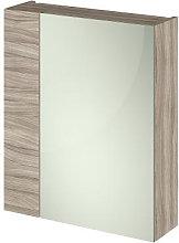 Vasari Apex Driftwood Single Door Mirror Cabinet -