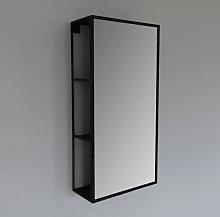 Vasari Black Framed Bathroom Mirror With Open