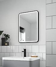 Vasari Black Framed LED Bathroom Mirror with