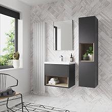 Vasari Camden Grey Gloss Wall Hung Tall Bathroom