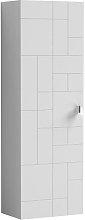 Vasari Cubix White Wall Hung Tall Bathroom Cabinet