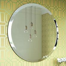 Vasari Round Bevelled Edge Bathroom Mirror 600 x