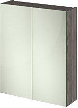 Vasari Vista Brown Grey Avola Double Door Mirror