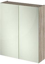 Vasari Vista Driftwood Double Door Mirror Cabinet