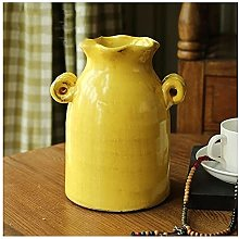 vase Ceramic Vase 20cm High 15cm Wide, Vintage Ice
