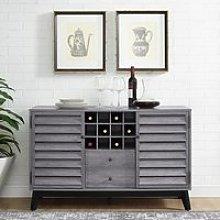 Vaughn Wooden Wine Cabinet In Grey Oak