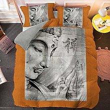 VAWAA Bedding Duvet Covers Orange Background
