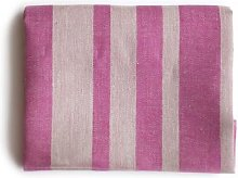 Vaxbo Lin - Big Pink Striped Linen Alfons Bath