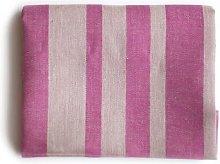 Vaxbo Lin - Big Pink Striped Linen Bath Towel
