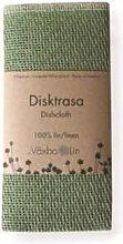 Vaxbo Lin - Green Linen Tea Towel - linen   green