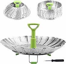 VBARV 9/11 Inch Stainless Steel Steaming Basket