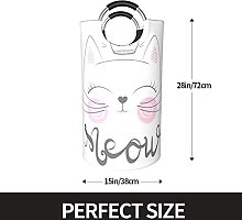 VBTDEGAB Cute cat meow Laundry Basket,Waterproof