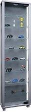 VCM Cabinet Edana Maxi with LED, Silver, 115x33x18
