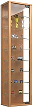 VCM Cabinet Stano Maxi with LED, Beech, 115x33x18