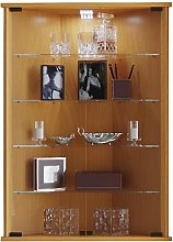 VCM Corner Display Cabinet Vecko with Feet,Beech,