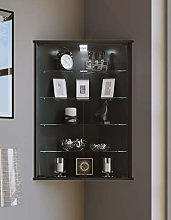 VCM Corner Display Cabinet Vecko with Feet,Black,