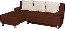 VCM corner sofa Critona brown leatherette/Couch