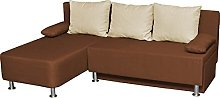 VCM corner sofa Magota brown/Couch with sleeping
