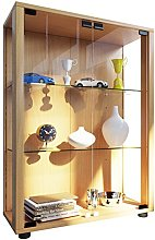 VCM Stand Cabinet Sintalo with LED, Wood, Beech,