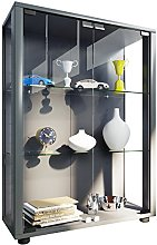 VCM Stand Cabinet Sintalo with LED, Wood, Silver,