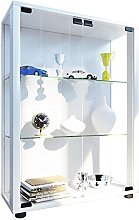 VCM Stand Cabinet Sintalo with LED, Wood, White,