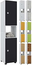 VCM Tall Cabinet Intola,Black, Wood Structure