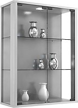 VCM Wall Cabinet Udina Silver/with LED Lighting
