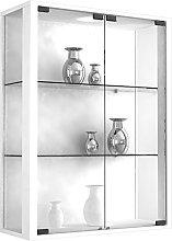 VCM Wall Cabinet Udina White/with LED Lighting