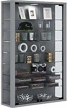 VCM Wall Cabinet Vitrosa Mini Silver/with LED