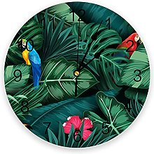 Vcnhln Animal Parrot Tropical Plant Green Leaf