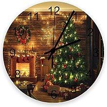 Vcnhln Christmas wall clock 30cm Wooden Wall Clock