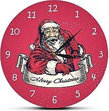 Vcnhln Merry Christmas Holidays Wall Clock Old
