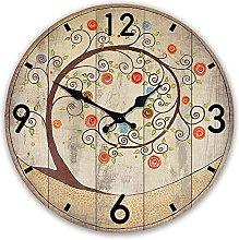 Vcnhln Quartz Wood Wall Clock Digital Clock Dream