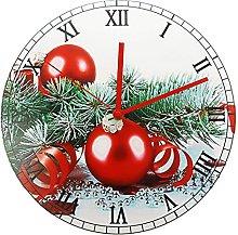 Vcnhln Wall Clock Merry Christmas Print Wall Clock