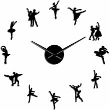 VCS Ballerina Wall Art DIY Large Wall Clock Big