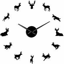 VCS Deer Head DIY Giant Wall Clock Woodland Deer