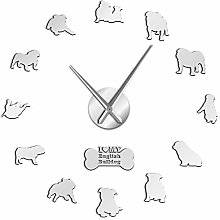 VCS English Bulldog Home Decor Wall Clock British
