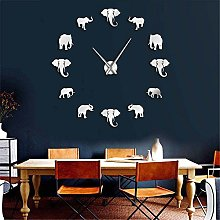 VCS Jungle Animals Elephant DIY Large Wall Clock