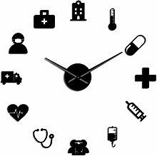 VCS Medicine Heath Care Ambulance Large Wall Clock