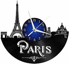 VCS Paris 12 Inch Vinyl Record Wall Clock, Battery