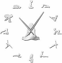 VCS Yoga Poses DIY Giant Wall Clock Find Your