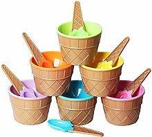Vdn Ice cream bowl and spoon 9.7 cm diameter 6.3