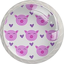 Vector Seamless Pattern for Girl with Pig, Knobs