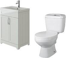 VeeBath Carlton White Traditional Vanity Basin