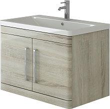 VeeBath Ceti Oak Wall Hung Vanity Basin Bathroom