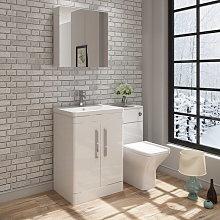 VeeBath Ceti Vanity Basin Unit & Wall Mirror
