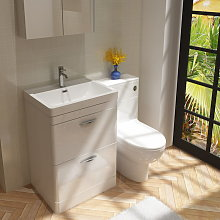 Veebath - Cyrenne Vanity Basin Cabinet & WC Toilet