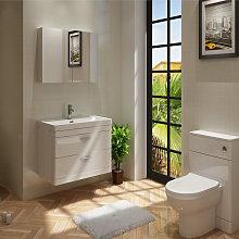Veebath - Cyrenne Wall Hung Vanity Basin Cabinet &
