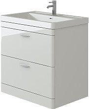 VeeBath Cyrenne White Floor Standing Bathroom